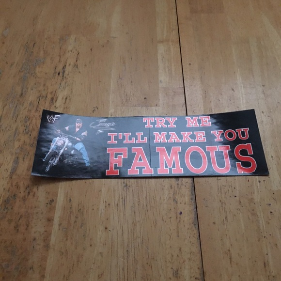 Undertaker make you famous bumper decal